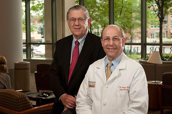 Alvin J. Siteman and Siteman Cancer Center Director Timothy Eberlein, MD